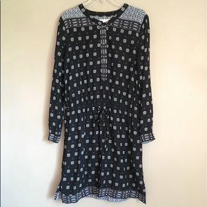 Two by Vince Camuto Cinch Waist Dress Geo Print